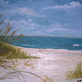 Summer Beach And Sea Grasses by Barbara Harper