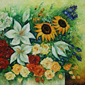 Summer Bouquet - Right Part Of Diptych. by Evgenia Davidov