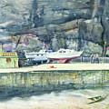 Sunday Morning Dysart Harbour by John Bonington