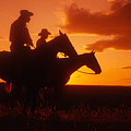 Sundown In Wyoming by Carl Purcell