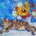 Sunflower Cat by Yvonne Ankerman