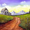 Sunlit Cabin by SueEllen Cowan