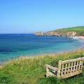 Sunny Day At Thurlestone Beach by Photo by Andrew Boxall