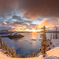 Sunrise After Summer Snowfall by Greg Nyquist