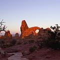 Sunrise At Tower Arch by Ellen Heaverlo