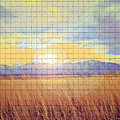 Sunrise Field 2 - Mosaic Tile Effect by Steve Ohlsen