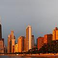Sunrise Over Chicago by Adam Romanowicz