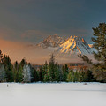 Sunrise Over Sawtooth Mountains Idaho by Knowles Photography