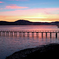 Sunrise Over Tomales Bay by Charlene Mitchell
