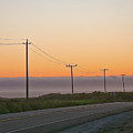 Sunset And Telephone Wires by Liz Santie