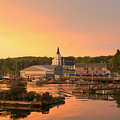 Sunset At Boothbay Harbor by Lois Lepisto