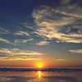 Sunset At Moonlight Beach by PJ  Cloud