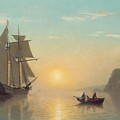 Sunset Calm In The Bay Of Fundy by William Bradford