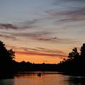 Sunset Canoe by Ty Helbach