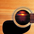 Sunset In Guitar by Garry Gay