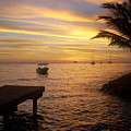 Sunset In Huahine by Ileana Carreno