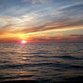 Sunset On Lake Erie by Patricia R Moore