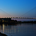 Sunset On The Bob Kerry Pedestrian Bridge by Edward Peterson