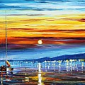 Sunset Over California by Leonid Afremov