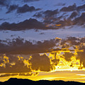 Sunset Over Horsetooth Rock by Harry Strharsky