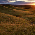 Sunset Over The Kansas Prairie by Jim Richardson