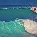 Surfer At Aneaho'omalu Bay by Bette Phelan