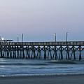 Surfside Beach Pier At Dawn by Teresa Mucha