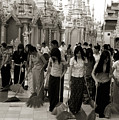 Sweeping The Shwedagon Floor by Jessica Rose