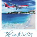 Take Me To Sxm- Poster by Cindy D Chinn