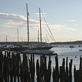 Tall Ship At Dock by Dennis Curry