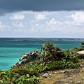 Talum Ruins Mexico Ocean View by Douglas Barnett