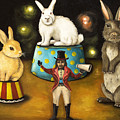 Taming Of The Giant Bunnies by Leah Saulnier The Painting Maniac