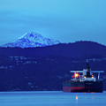 Tanker On  English Bay by Paul Kloschinsky