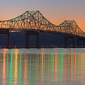 Tappan Zee Bridge After Sunset I by Clarence Holmes