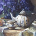 Tea And Lilacs by Ruth Stromswold