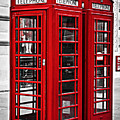 Telephone Boxes In London by Elena Elisseeva