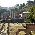 Temple Of Vesta. Arch Of Titus. Temple Of Castor And Pollux. Forum Romanum. Roman Forum. Rome by Bernard Jaubert