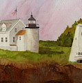 Tenants Harbor Light by Peggy Bergey
