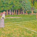 Tennis At Hertingfordbury by Spencer Frederick Gore