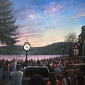the 4th of July on Lake Mohawk by Tim Maher
