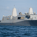 The Amphibious Transport Dock Ship Uss by Stocktrek Images