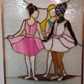 The Ballet Dancers In Stained Glass by Arlene  Wright-Correll