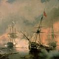 The Battle Of Navarino by Ivan Konstantinovich Aivazovsky