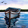 The Blue Wooden Boat by Elizabeth Robinette Tyndall