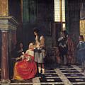 The Card Players by  Pieter de Hooch