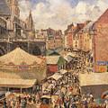 The Fair In Dieppe by Camille Pissarro