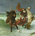 The Flight Of Gradlon Mawr by Evariste Vital Luminais