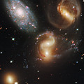 The Galaxies Of Stephans Quintet by Nasa/Esa