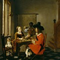 The Game Of Cards by Hendrik van der Burch