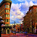 The Gastown Flat Iron Building by Julius Reque